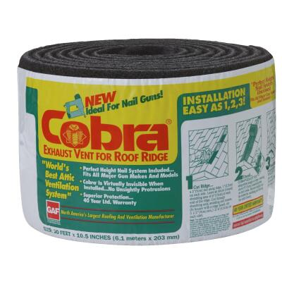 Cobra 20 Ft. Gun-Nailed Rolled Ridge Vent