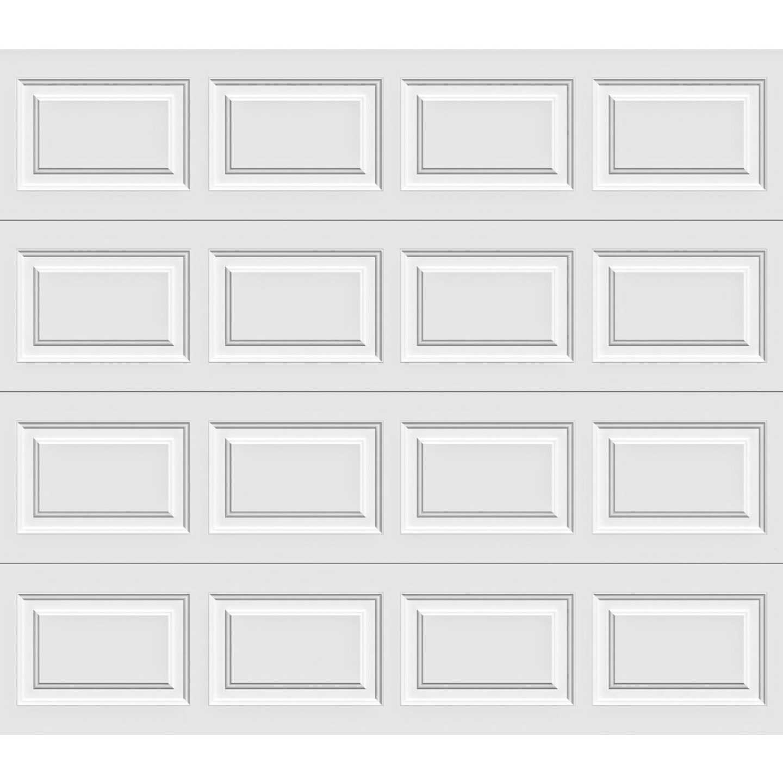 Holmes Gold Series 9 Ft. W x 7 Ft. H White Insulated Steel Garage Door w/EZ-Set Torsion Spring Image 1
