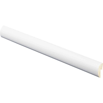 Inteplast Building Products 5/16 In. W. x 1-1/8 In. H. x 8 Ft. L Crystal White Polystyrene Cap Molding