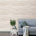 Global Product Sourcing 3-1/2 In. W. x 1/4 In. Thick Solid Wood White Reclaimed Wood Wall Plank Image 2