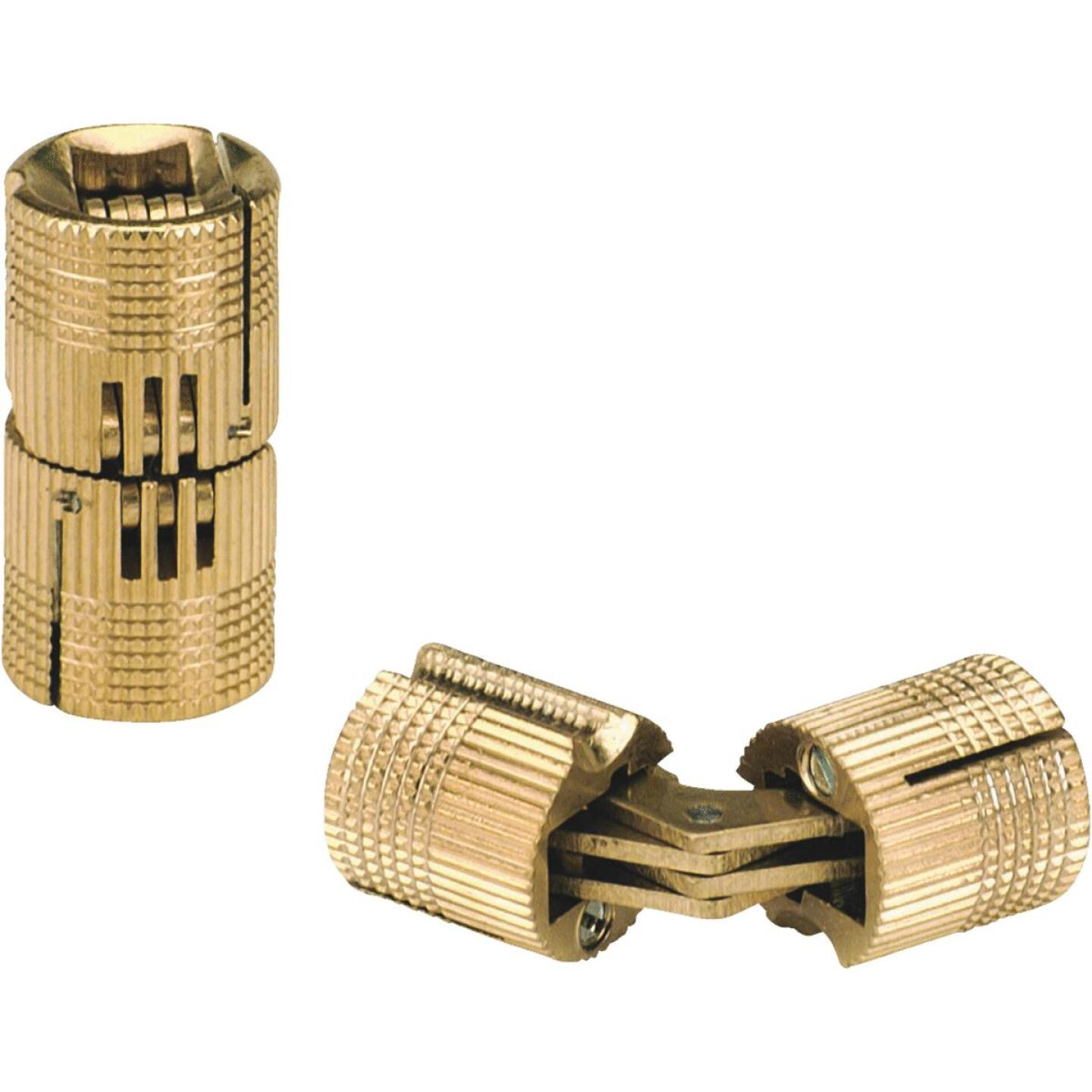 SOSS Solid Brass 1/2 In. Invisible Barrel Hinge, (2-Pack) Image 1
