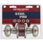 Steel Pro Brushed Nickel Entry Door Knob  Image 2