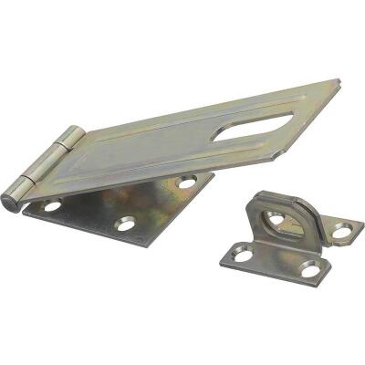 National 6 In. Zinc Non-Swivel Safety Hasp