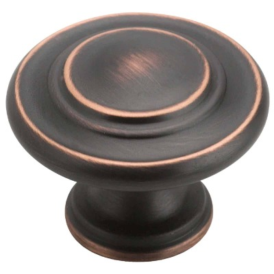 Amerock Inspirations Oil Rubbed Bronze 1-3/8 In. Cabinet Knob