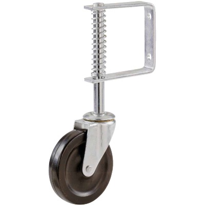 Shepherd 4 In. Gate Caster with Adjustable Spring Bracket