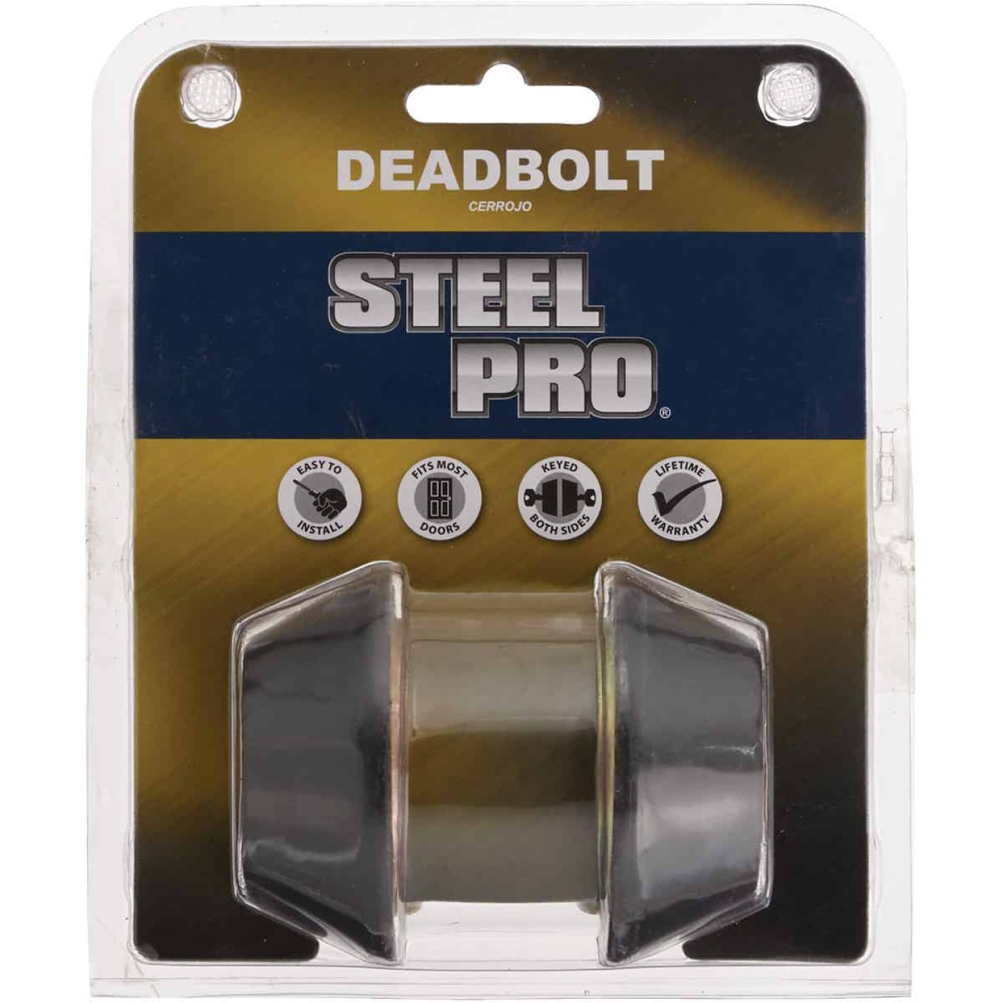 Steel Pro Oil Rubbed Bronze Kwikset Double Cylinder Deadbolt Image 2