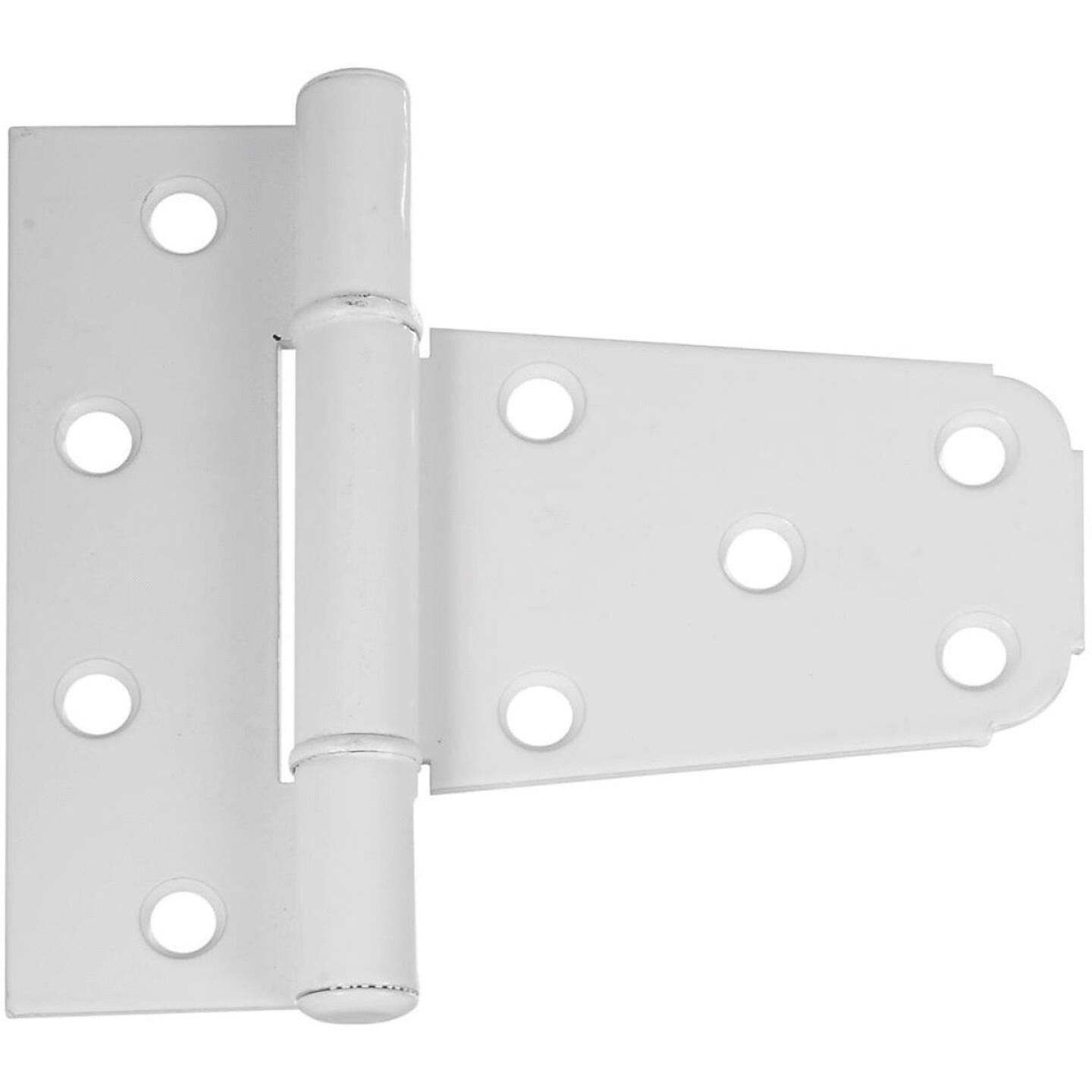 National 3-1/5 In. White Vinyl Fence Gate Hinge Image 1