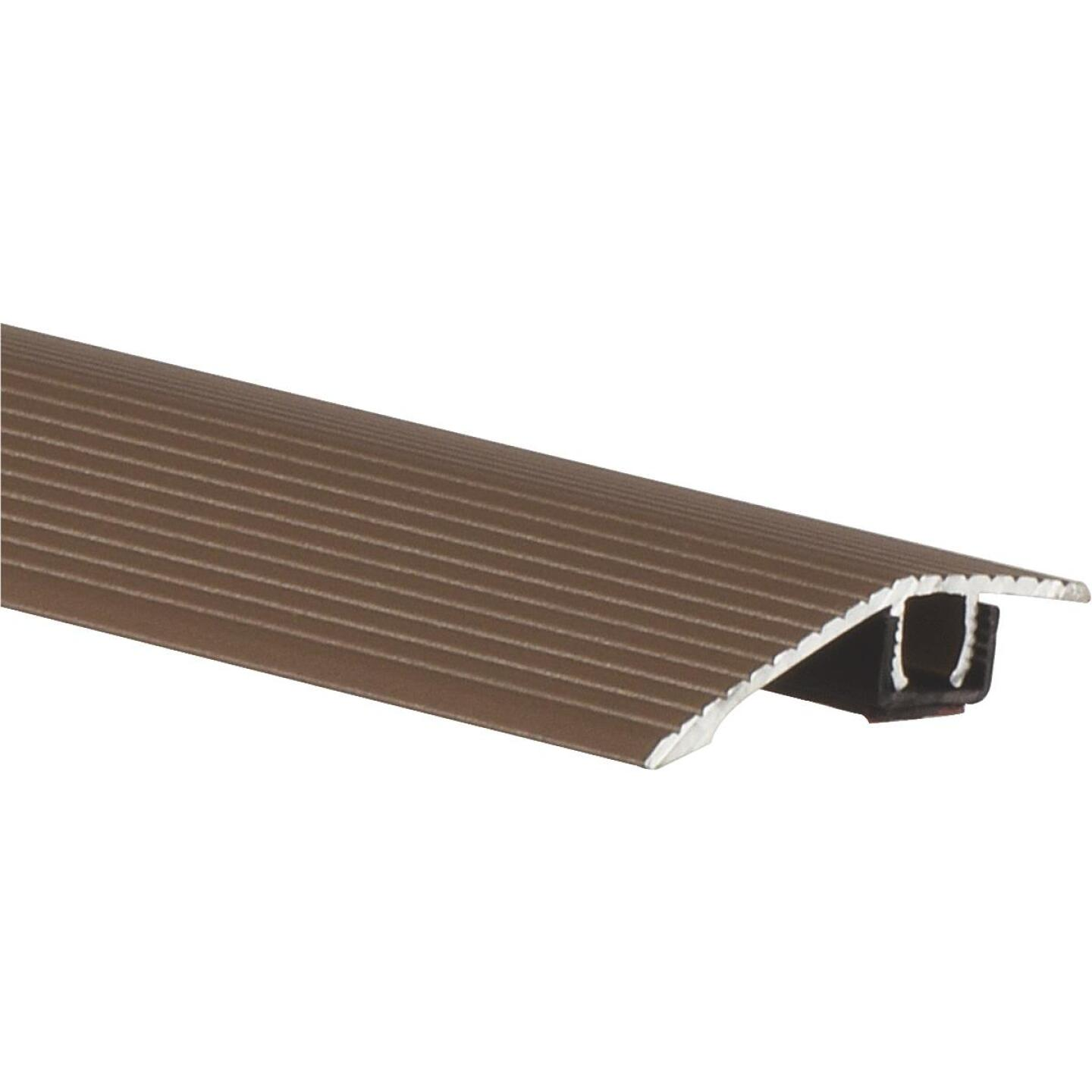 Frost King Satin Cocoa 1-3/16 In. W x 36 In. L Aluminum Reducer Floor Transition Image 1