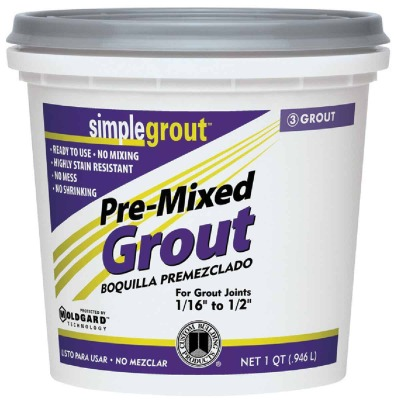 Custom Building Products Simplegrout Quart Alabaster Pre-Mixed Tile Grout