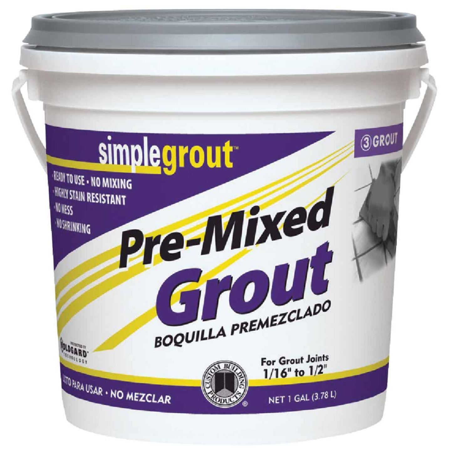 Custom Building Products Simplegrout Gallon Linen Pre-Mixed Tile Grout Image 1