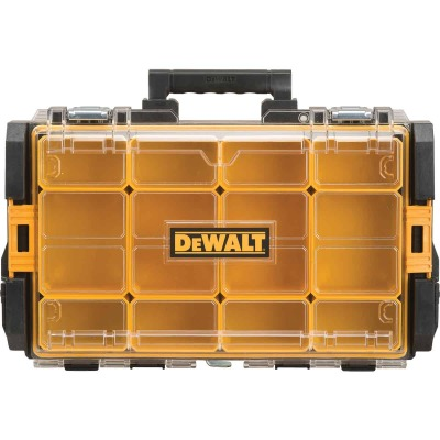 DeWalt ToughSystem 13.125 In. W x 4.50 In. H x 21.75 In. L Small Parts Organizer with 12 Bins