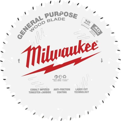 Milwaukee 10 In. 40-Tooth General Purpose Wood Circular Saw Blade