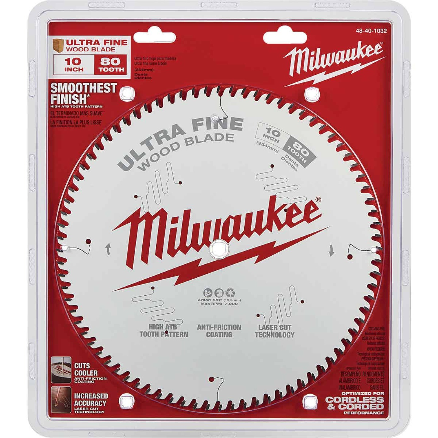 Milwaukee 10 In. 80-Tooth Ultra Fine Finish Circular Saw Blade Image 2