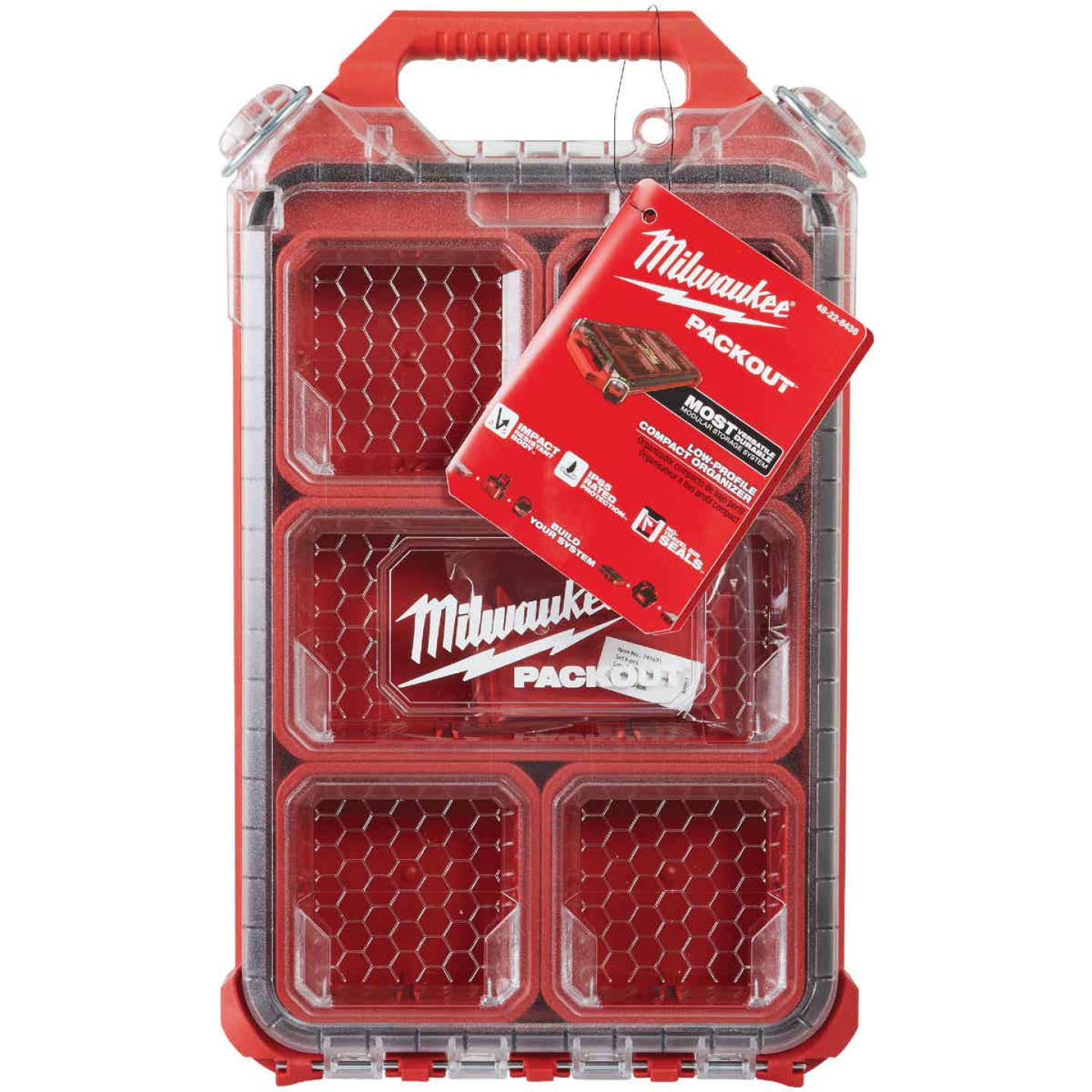 Milwaukee PACKOUT Compact Lo-Profile Small Parts Organizer with 5 Bins Image 2