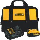 DeWalt 20 Volt MAX XR Lithium-Ion 5.0 Ah Tool Battery and Charger Kit Image 1