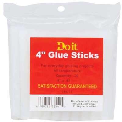 Do it 4 In. Standard Clear Hot Melt Glue (20-Pack)