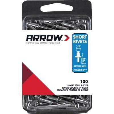 Arrow 1/8 In. x 1/8 In. Steel IP Rivet (100 Count)