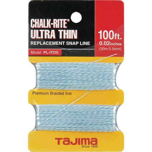 Tajima Chalk-Rite 100 Ft. Braided Nylon Ultra Thin Chalk Line