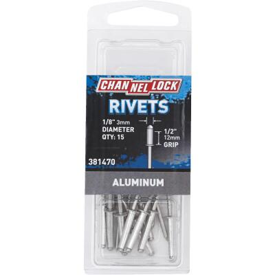 Channellock 1/8 In. Dia. x 1/2 In. Grip Aluminum POP Rivet (15-Pack)