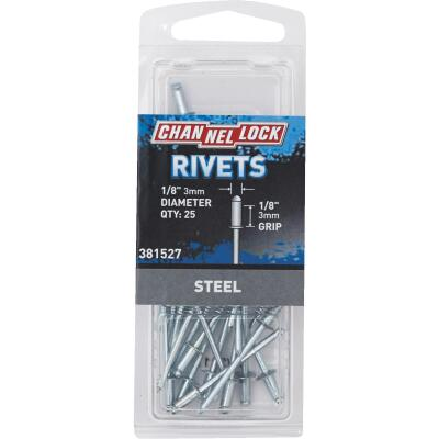 Channellock 1/8 In. Dia. x 1/8 In. Grip Steel POP Rivet (25-Pack)