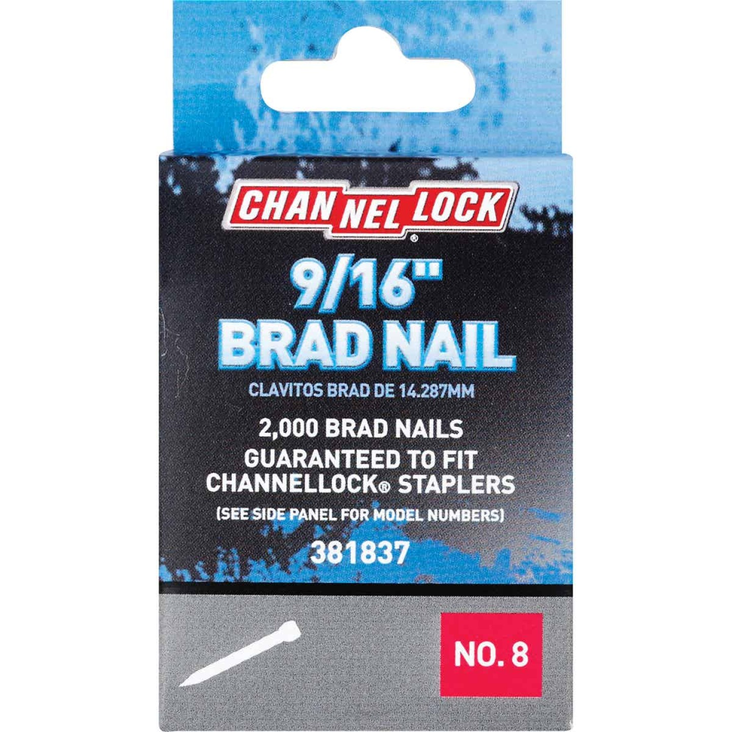 Channellock18-Gauge Steel Brad Nail, 9/16 In. (2000-Pack) Image 1