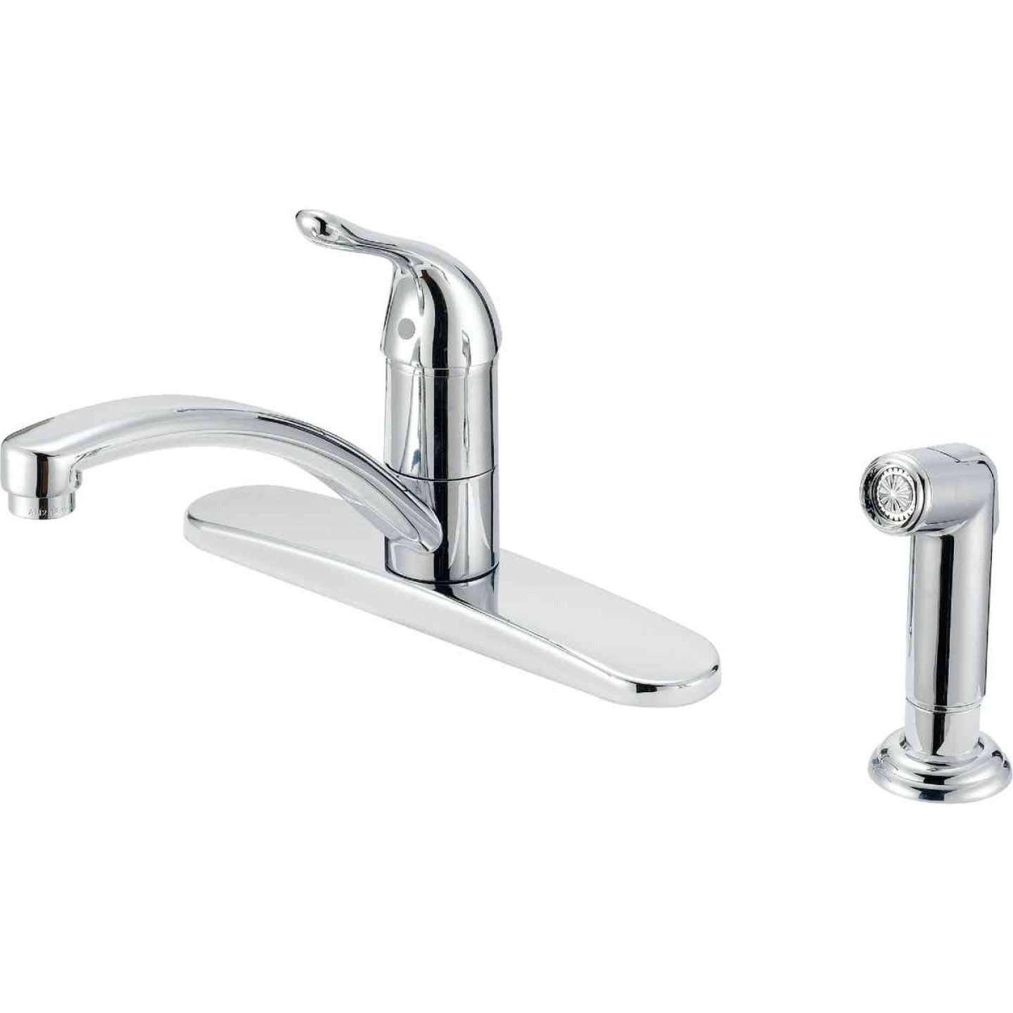 Home Impressions Single Handle Lever Kitchen Faucet with Side Spray, Chrome Image 1
