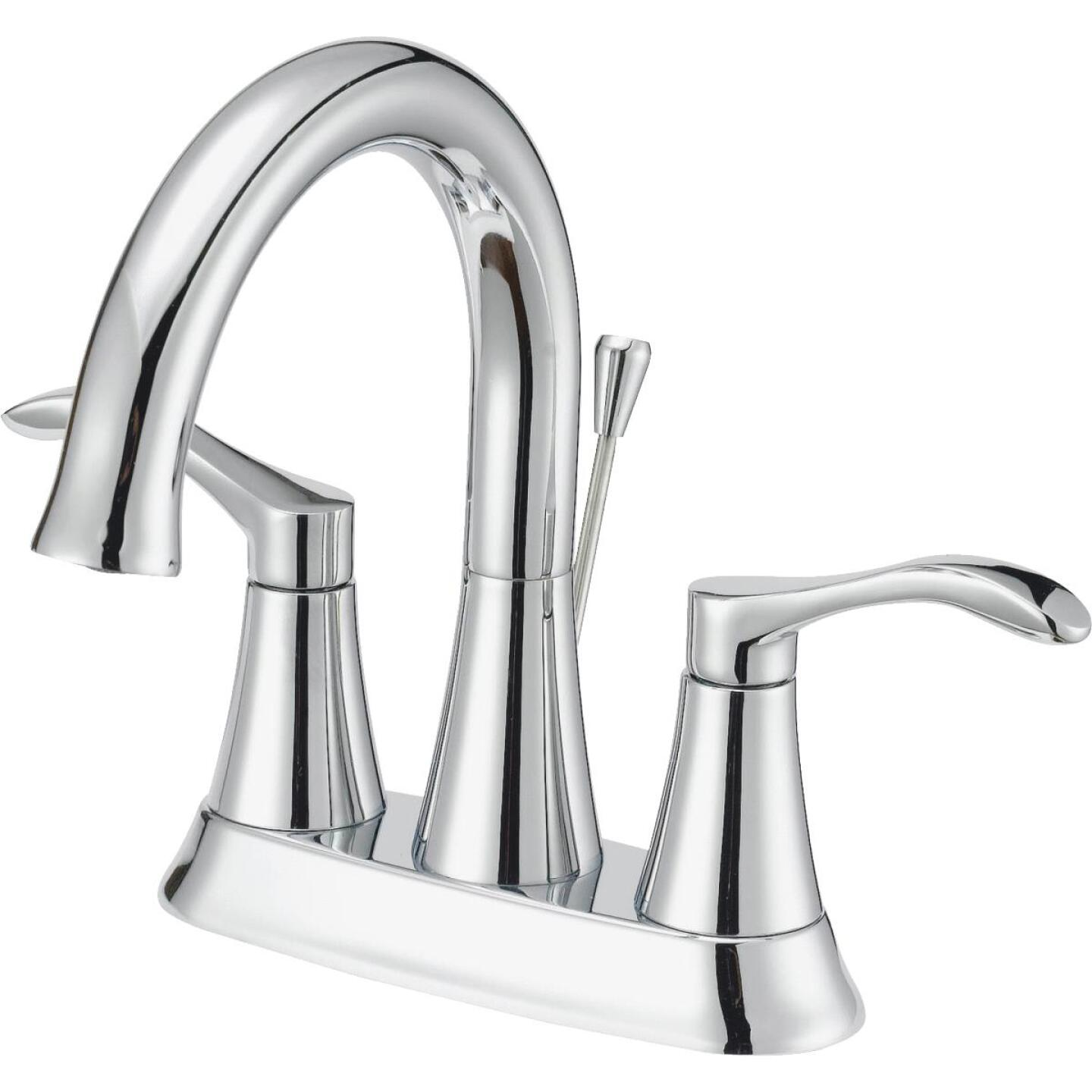 Home Impressions Chrome 2-Handle Lever 4 In. Centerset Bathroom Faucet with Pop-Up Image 1