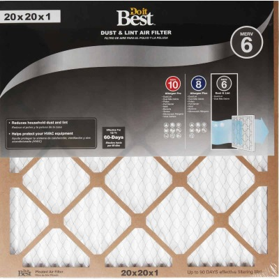 Do it Best 20 In. x 20 In. x 1 In. Dust & Lint MERV 6 Furnace Filter