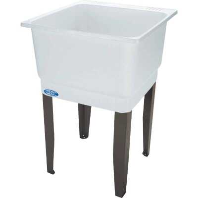Mustee Utilatub 21 Gallon 23 In. W x 25 In. L Laundry Tub