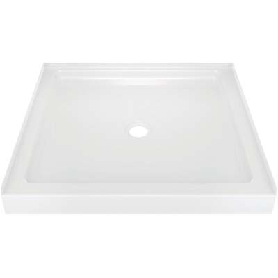 Delta Classic 400 36 In. L x 36 In. D Center Drain Shower Floor & Base in White