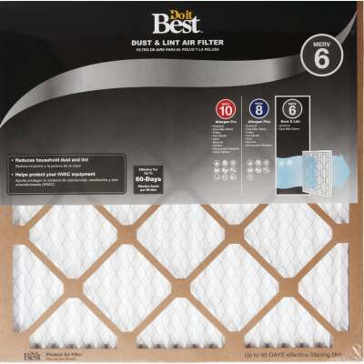 Do it Best 18 In. x 20 In. x 1 In. Dust & Lint MERV 6 Furnace Filter