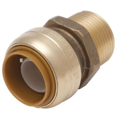 Sharkbite 1/2 In. x 3/4 In. Reducing Brass Push-to-Connect Male Adapter
