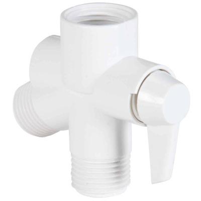 Do it  1/2 In. MPT White Plastic Shower Diverter