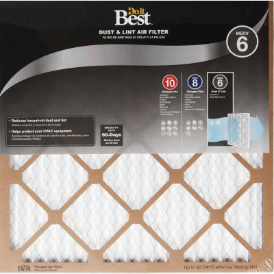 Do it Best 12 In. x 24 In. x 1 In. Dust & Lint MERV 6 Furnace Filter