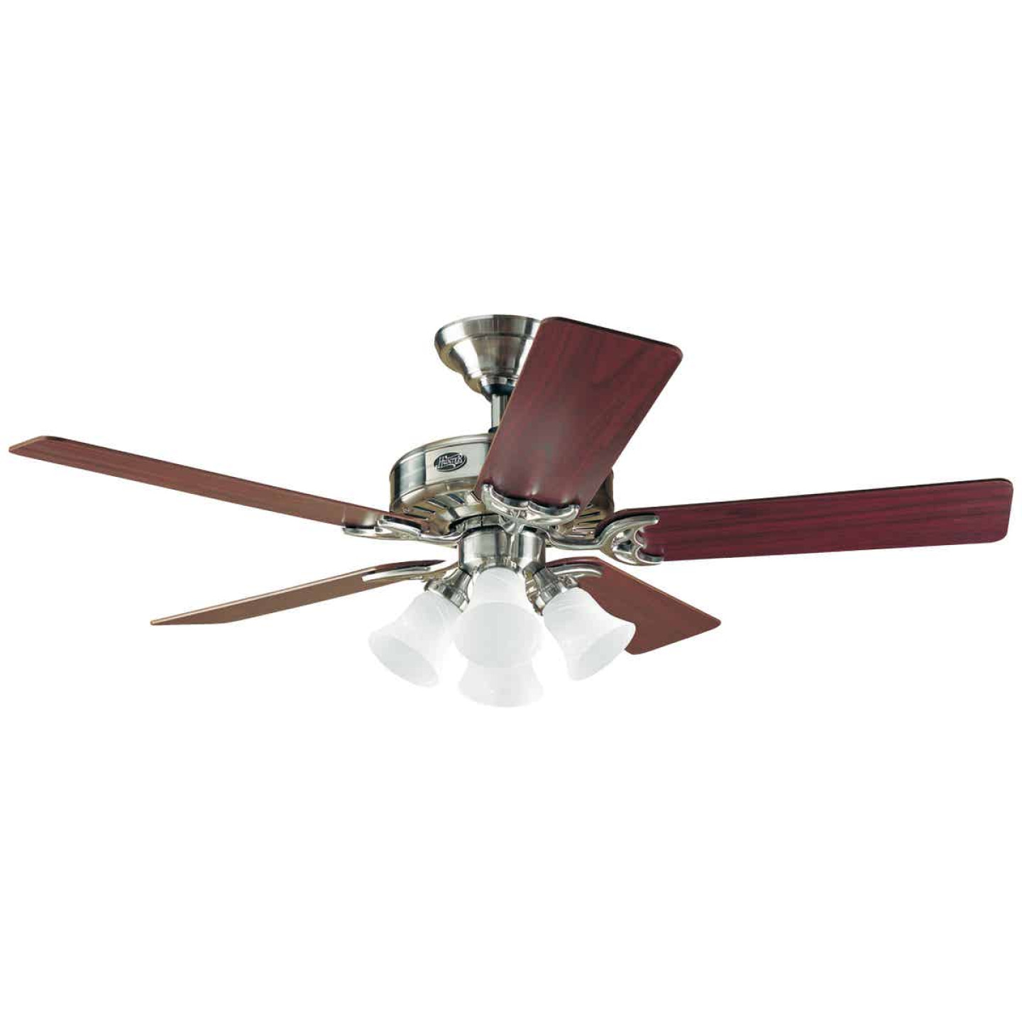 Hunter Studio 52 In. Brushed Nickel Ceiling Fan with Light Kit Image 1