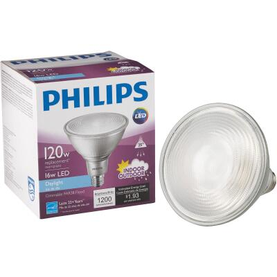 Philips 120W Equivalent Daylight PAR38 Medium Dimmable LED Floodlight Light Bulb