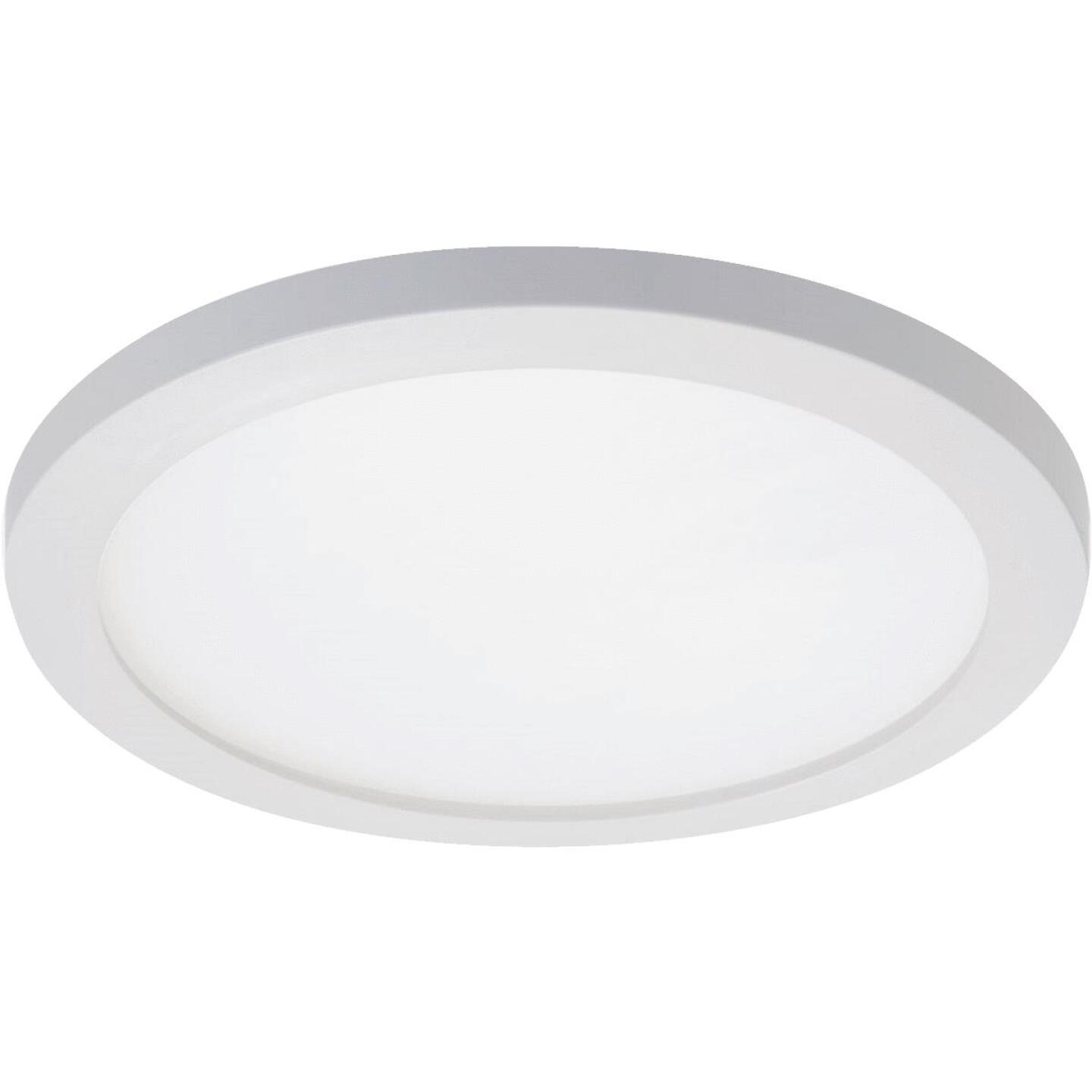 Halo 4 In. Round Retrofit IC/Non-IC Rated White LED Flush Mount LED Recessed Light Kit Image 1
