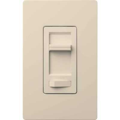 Lutron Lumea Incandescent/Halogen/LED/CFL Light Almond Slide Dimmer Switch