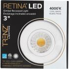 Liteline Trenz Retina 3 In. New Construction/Remodel IC Rated White 4000K Gimbal Recessed Light Kit Image 2