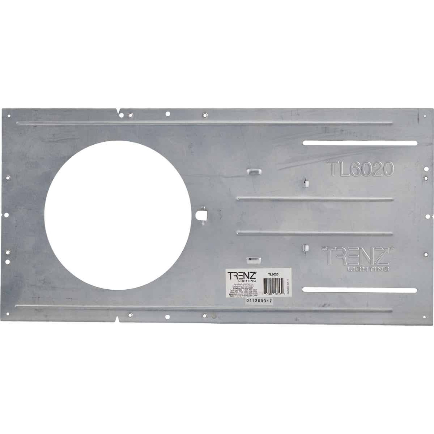 Liteline Trenz ThinLED 6 In. Round Recessed Fixture Mounting Plate Image 2