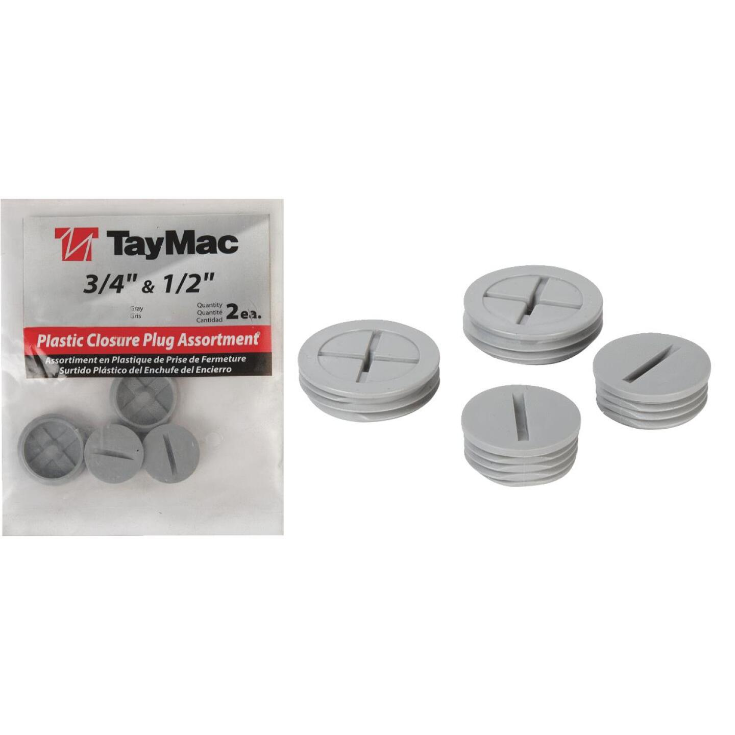 TayMac 1/2 In, 3/4 In. Weatherproof Gray Outdoor Closure Plug (4-Pack) Image 1