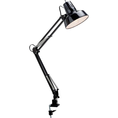 Satco Black CFL Clamp-On Drafting Desk Lamp