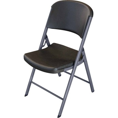 Lifetime Contoured Folding Chair, Black