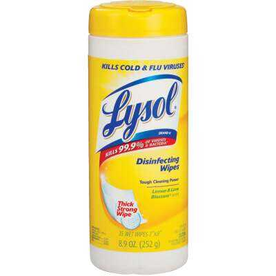 Lysol Lemon & Lime Blossom Sanitizing Wipes (35-Count)
