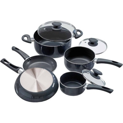 Ecolution Elements Black Non-Stick Aluminum Cookware Set (8-Piece)