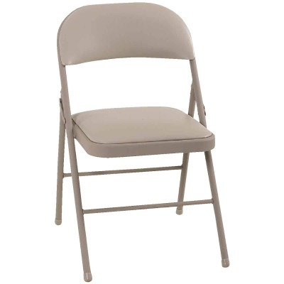 COSCO Beige Vinyl Folding Chair