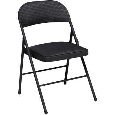 COSCO Fabric Folding Chair, Black