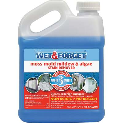 Wet & Forget 1/2 Gal. Liquid Concentrate Moss, Mildew, Algae, & Mold Stain Remover