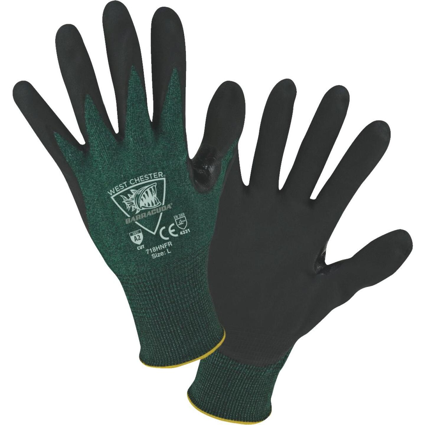 West Chester Protective Gear Barracuda Men's Large 18-Gauge Nitrile Coated Glove Image 1