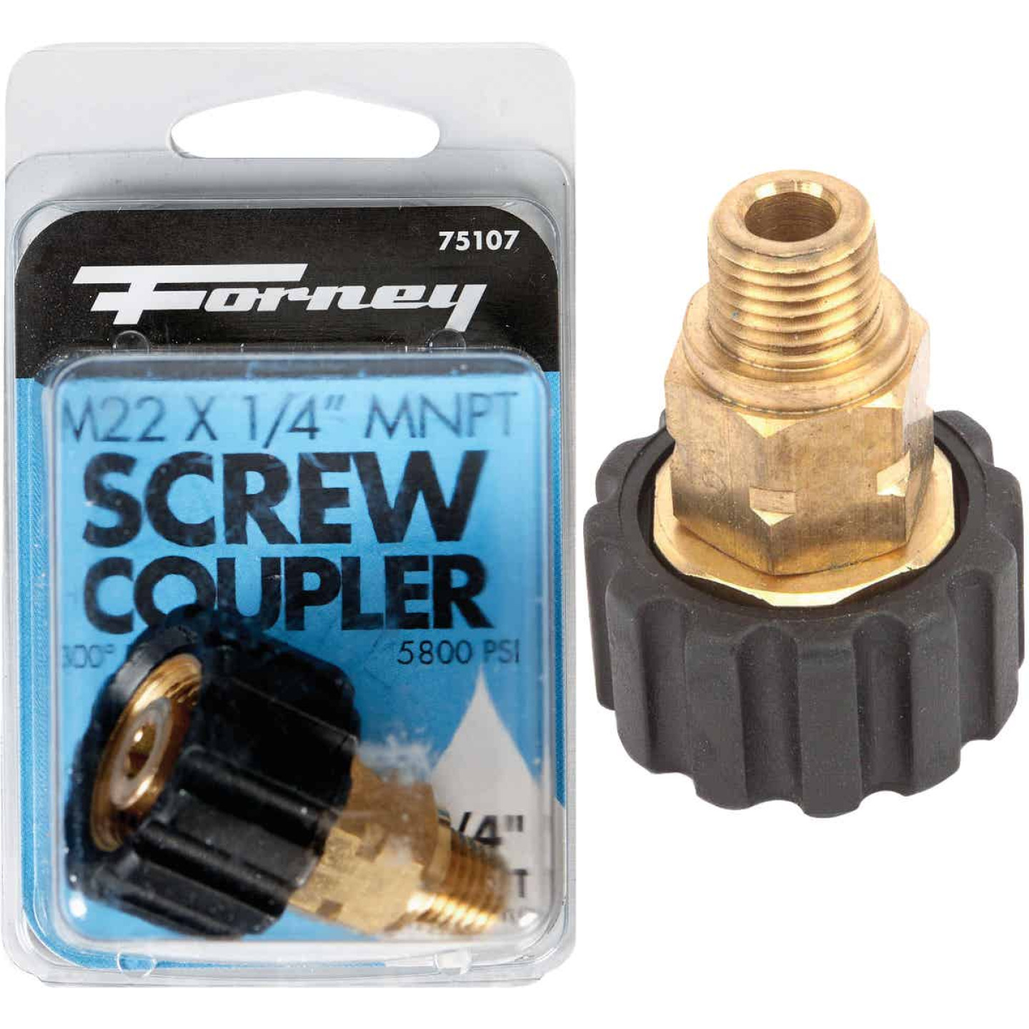 Forney M22F x 1/4 In. Male Screw Pressure Washer Coupling Image 1